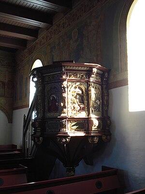 Jørgen Ringnis - Image: Ål Kirke Prædikestol