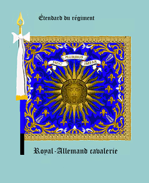 Régiment de Royal-Allemand cavalerie - Regimental flag