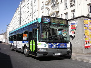RATP Group - RATP bus at the Gare du Nord