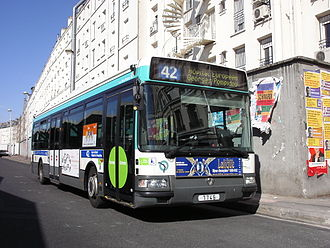 RATP Group - RATP bus near the Gare du Nord.