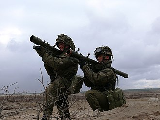 Grom (missile) - Polish soldiers practice taking aim with Grom MANPADs.