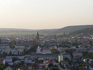 Chortkiv - View of Chortkiv and the surrounding Podolian landscape.