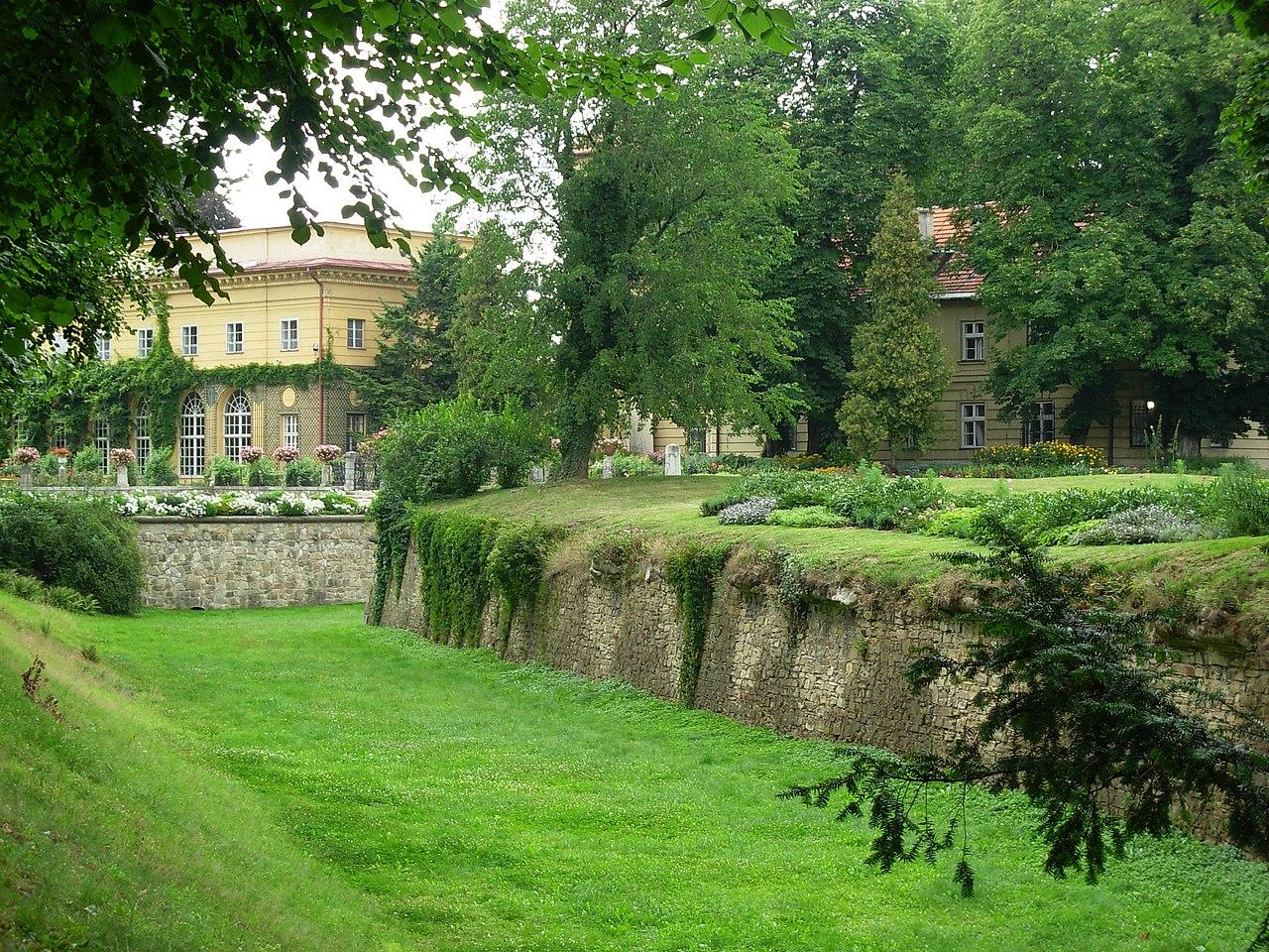 Ланьцутский дворец - moat.JPG