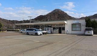 Ōmi-Nagaoka Station Railway station in Maibara, Shiga Prefecture, Japan