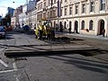 Štefánikova, rekonstrukce TT, u náměstí 14. října, zavěšený panel.jpg