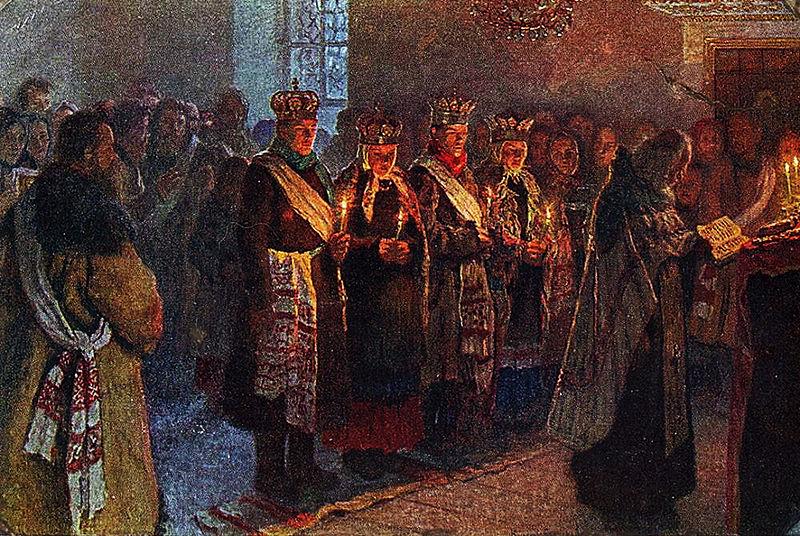 Файл: Богданов-Бельский Венчание 1904.jpg