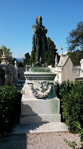 Могила Герцена на кладбище Шато в Ницце