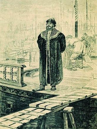 Bogatyr - Andrei Ryabushkin. Sadko, a rich Novgorod merchant, 1895.