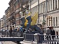 Санкт-Петербург 2003. Банковский мост. Грифоны. - panoramio.jpg