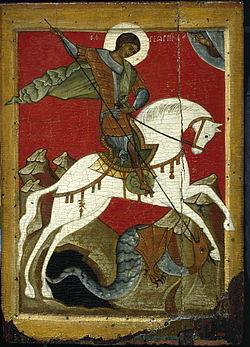 Кто написал икону георгия победоносца