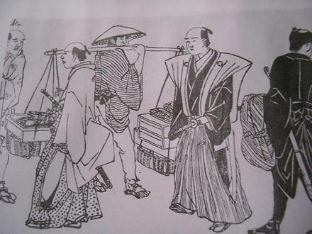 サムライは軽微な侮辱で平民を殺すことができ、日本人に広く恐れられていました。 江戸時代、1798年。