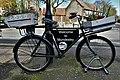 -2020-03-14 Mundesley, Station Road. Sales display bike with welcoming message.jpg