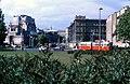 060R05121079 Karlsplatz, Blick Richtung Sezession, Strassenbahn Linie E2 Typ L 12.10.1979.jpg