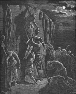 077.Jabesh-Gileadites Recover the Bodies of Saul and His Sons