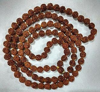 Om Namah Shivaya - Image: 108+1 five mukhi Rudraksha mala