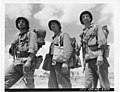 111-SC-374740 - Three Rochester men, each a veteran of all campaigns in which the 77th Div has participated, move up to the front.jpg