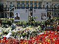12. Bucuresti, Romania. Flori in memoriam Reginei Ana. Portretele Majestatii Sale Regele Mihai I si a sotiei sale Regina Ana.jpg