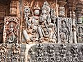 12th-century Vishnu and Lakshmi at Shaivism Hindu temple Hoysaleswara arts Halebidu Karnataka India 2.jpg