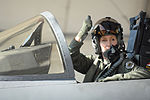 130717-F-JH807-390 Col. Jeannie Leavitt signals her crew chief before taking flight at Seymour Johnson Air Force Base.JPG