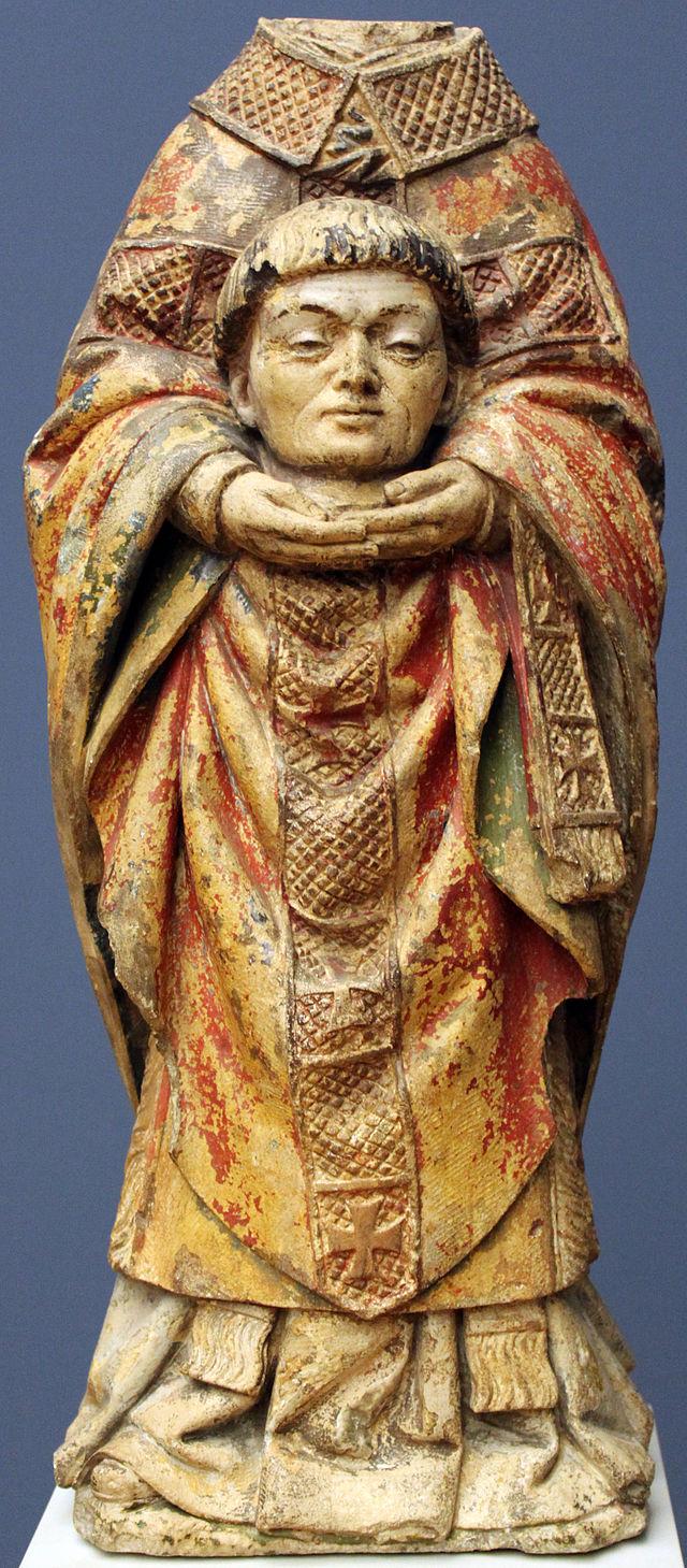 Entourage d'Antoine Le Moiturier : saint Denis, 1460/1470 dans immagini sacre