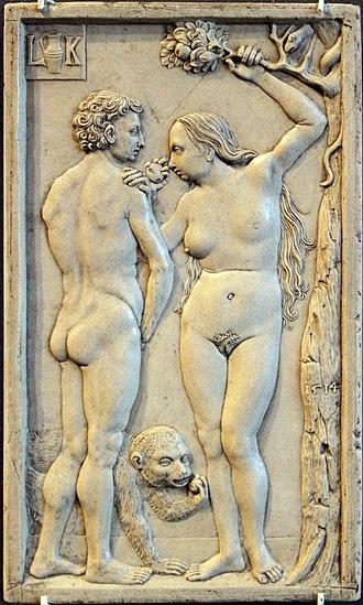 Solnhofen Limestone - Image: 1514 Krug Adam und Eva Sündenfall The Fall of Man Bodemuseum anagoria