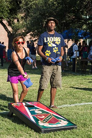 Cornhole - Cornhole being played during a pre-game tailgate at Texas A&M University–Commerce