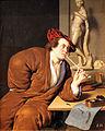 1688 van Mieris Bildnis eines rauchenden Künstlers anagoria.JPG