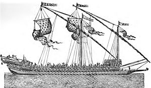Battle of Pantelleria (1586) - A Spanish galley of the 16th century