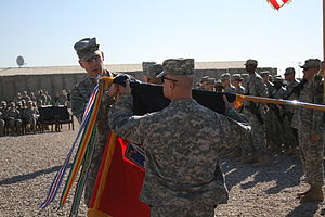 172nd Infantry Brigade (United States) - transfer of authority ceremony on FOB Kalsu, 18 December 2008