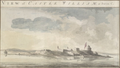 1773 CastleWilliam BostonHarbor byPierie BritishLibrary.png
