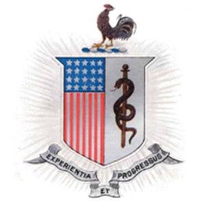 Army Medical Department regimental coat of arms - U.S. Army Medical Department (AMEDD) regimental coat of arms, ca. 1863.