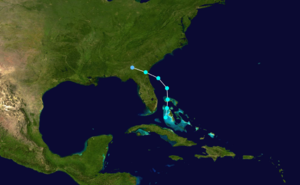 1873 Atlantic hurricane season - Image: 1873 Atlantic tropical storm 1 track