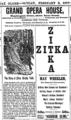 1889 Zitka GrandOperaHouse Boston Massachusetts BostonGlobe Feb3.png