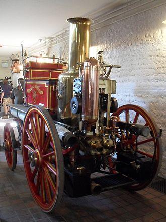 British Engineerium - Exhibits include this 1890 steam-powered fire engine.