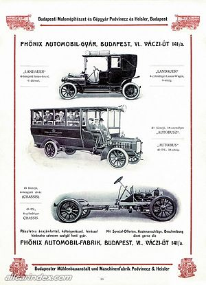 Hungarian General Machine Factory - Magomobil Phoenix advertisement in 1911