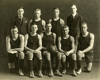 1918–19 Michigan Wolverines men's basketball team - 1918-1919 Michigan men's basketball team Back (from left): Harry Heffner, Wilford Wilson, Arthur Karpus, Elmer Mitchell Front (from left): Jack Williams, Timothy Hewlett, John Emery, Ralph Rychener, James McClintock