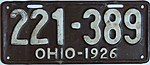 1926 Ohio passenger license plate.jpg