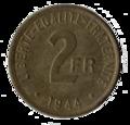1944 2 francs Philadelphie revers.png