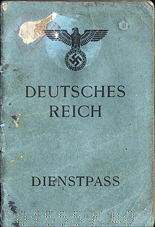 German passport wikipedia 1944 issued german service passport for use by an official abroad ccuart Images