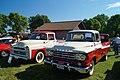 1957 & 1959 Dodge D-100 Sweptside Pick-Up (20609519124).jpg