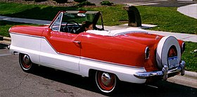 1959 Metropolitan convertible by AMC red-and-white rear view.JPG