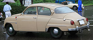 Saab 96 - Rear view of a 1961 Saab 96 with sunroof