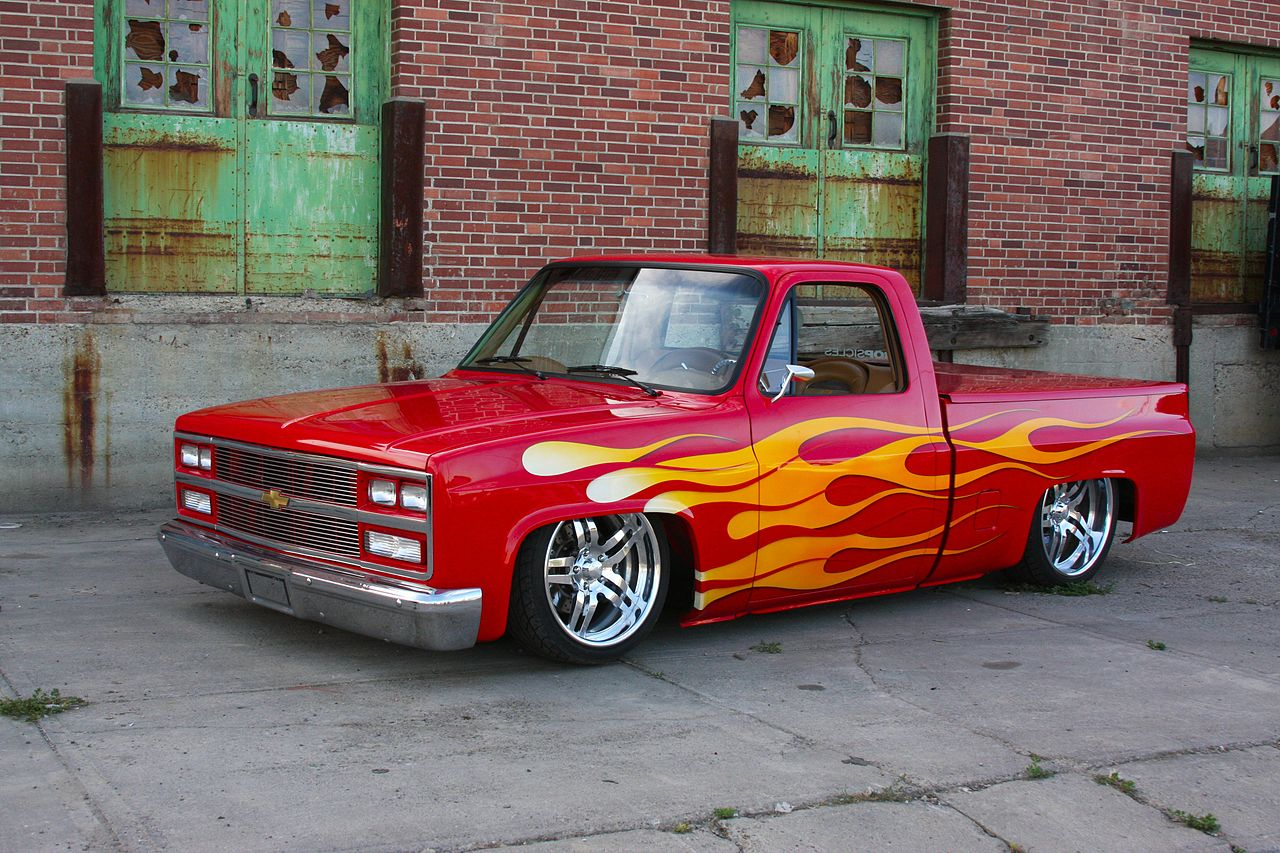 All Chevy chevy c10 wiki : File:1985 Chevrolet C10 - Red Rocker (3882628779).jpg - Wikimedia ...