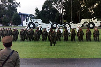 Holsworthy Barracks - Image: 1989 UNTAG farewell parade at Holsworthy