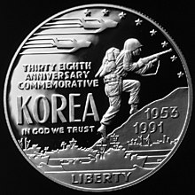 1991 Korean War-Proof Dollar (obverse).jpg