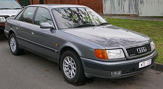 Audi 100 - Image: 1992 Audi 100 (4A) 2.8 quattro sedan (2015 08 07) 01