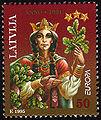 19951115 50sant Latvia Postage Stamp.jpg