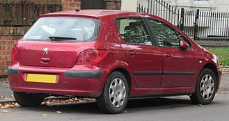 Peugeot 307 - Peugeot 307 5-door hatchback (United Kingdom; pre-facelift)