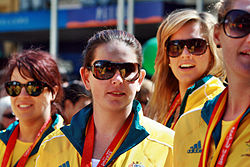 2008 Australian Olympic team womens water polo - Sarah Ewart