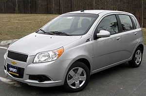 2009 Chevrolet Aveo5 photographed in Silver Sp...